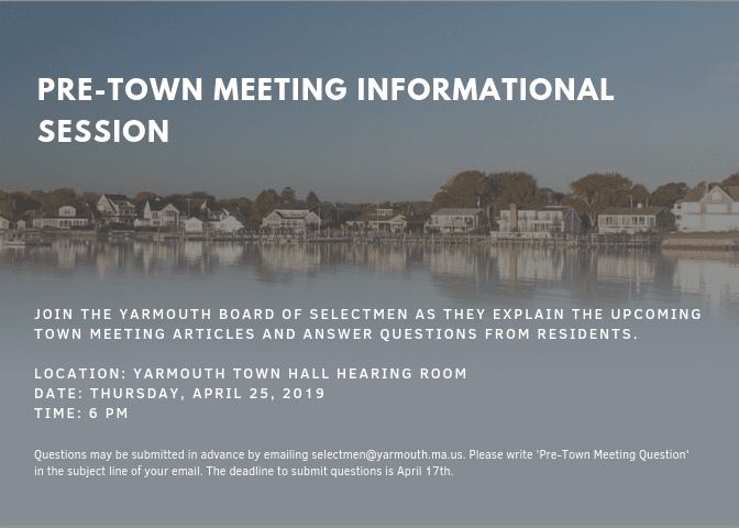 Pre-Town Meeting Announcement