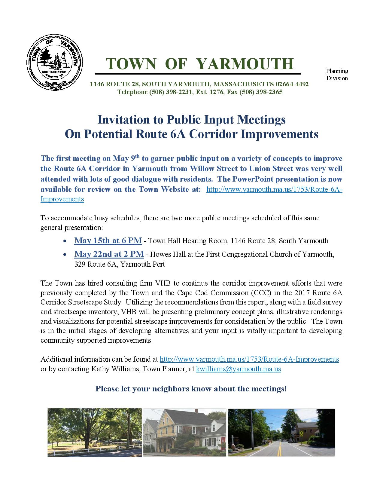 Invitation 2 - May Meetings Route 6A Corridor Improvements 050919-page-001