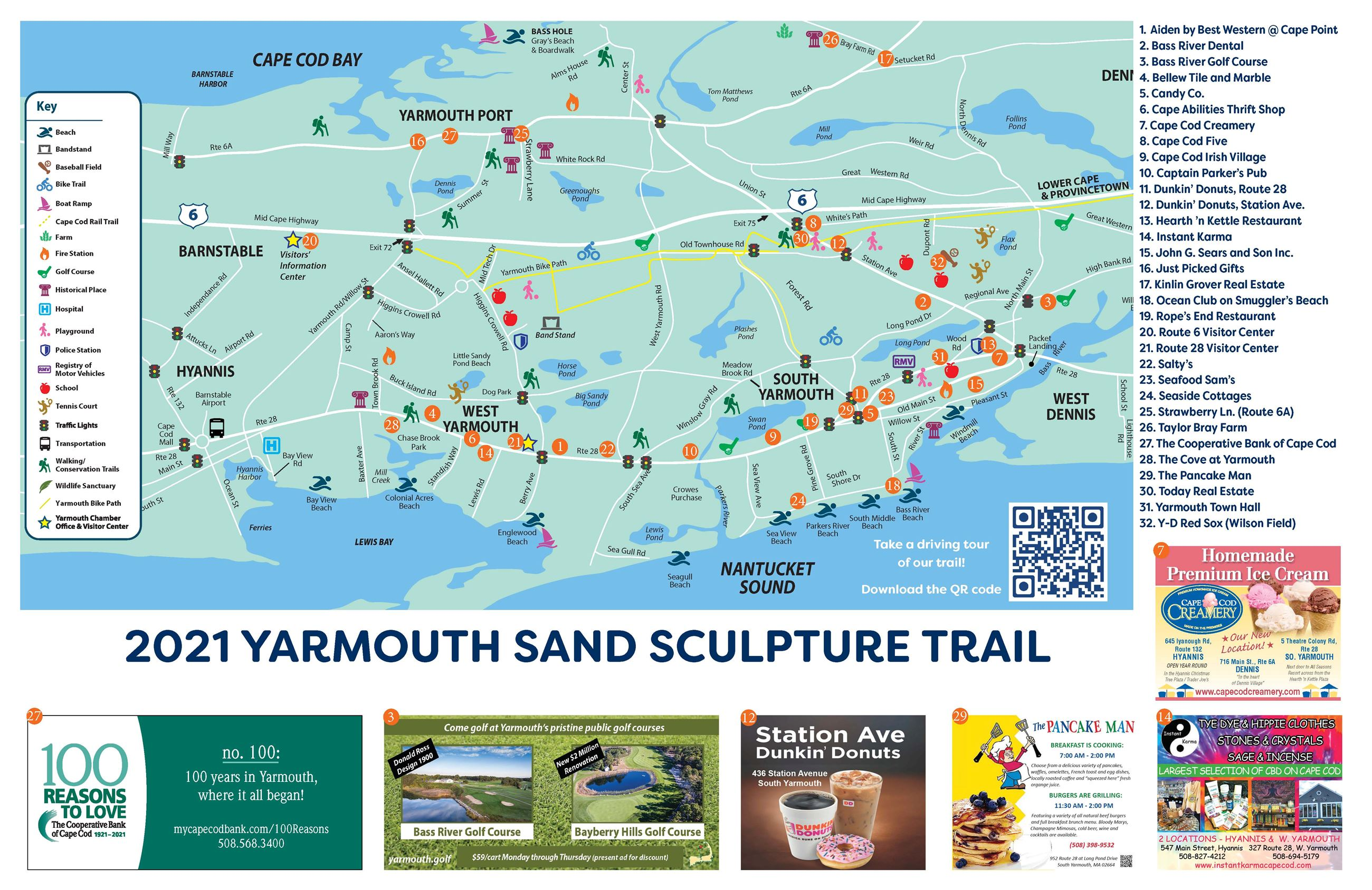 2019 Yarmouth Sand Sculpture Map