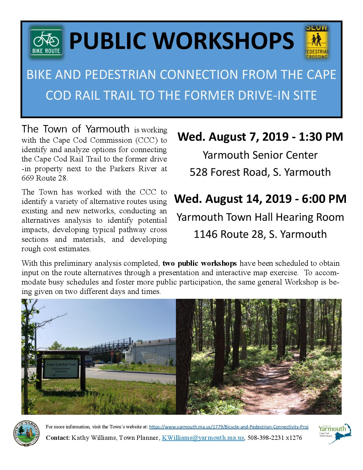 Bike Path Public Meeting Flyer
